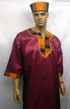 African-Burgandy-Kente-Dash