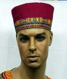 African-Burgundy-Kente-Trim