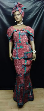 African-Collared-Print-Skir