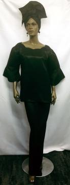 African-Dress-Black-3pc-Ski