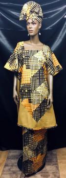 African-Gold-Print-Swingtop