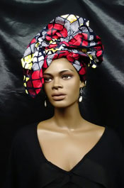 African-Head-Wrap-Red-Yello