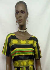 African-Kente-Cap-Sleeve-To