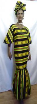 African-Kente-Print-Peplum-