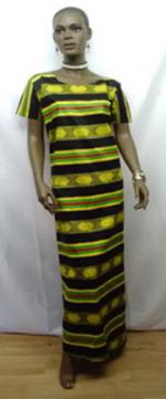 African-Long-Kente-Dress