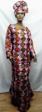 African-Pink-layerd-Skirt-S