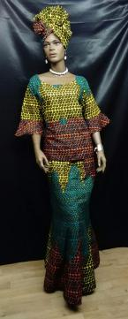 African-Print-Teal-Skirt-Se