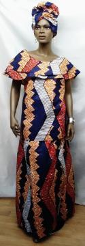 African-Purple-Gold-Skirt-S