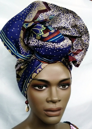 African-Purple-Star-Print-H