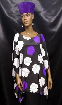 African-Purple-White-Elegan
