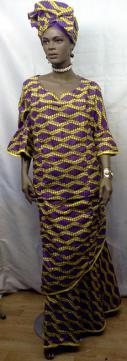 African-Purple-yellow-print