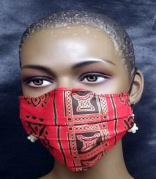African-Red-Black-Gold-Face