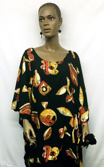 African-Red-Black-Gold-Shor