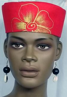 African-Red-Gold-Ladies-Hat