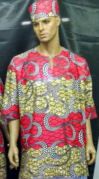 African-Red-Olive-Dashiki