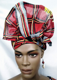 African-Red-Print-Head-Wrap