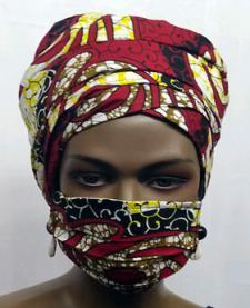 African-Red-Print-face-mask