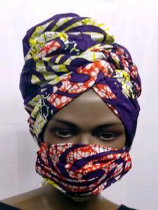 African-Red-Purple-Print-Fa