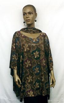 African-Sequins-Print-Short