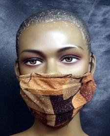 African-Sparkly-Brown-Gold-