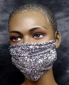 African-Sparkly-Silver-Face