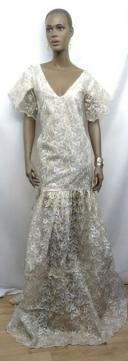 African-White-Gold-Lace-Gow