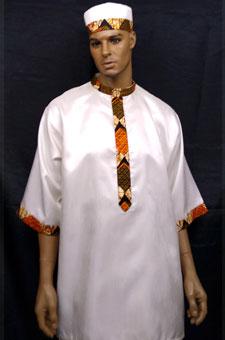 African-White-Print-Nehru-C