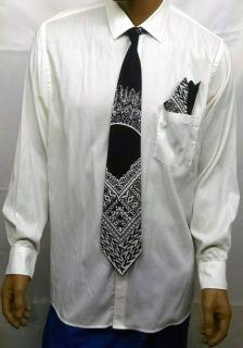 Mens-Black-and-White-Tie-S