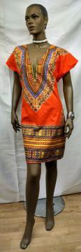 Orange-Kente-Dashiki-Print-