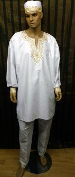African Dashiki shirt w/Pants Set