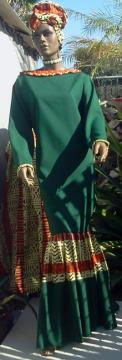 green-kente-dress
