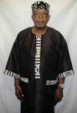 Mud Cloth Trim Dashiki Shirt