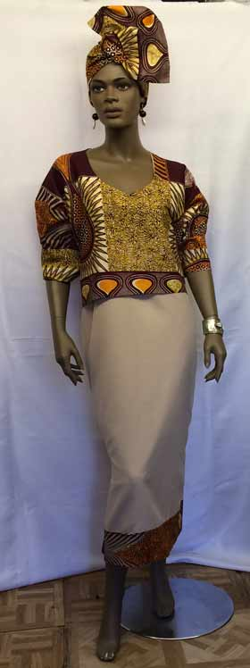 tan-puff-sleeve-dress